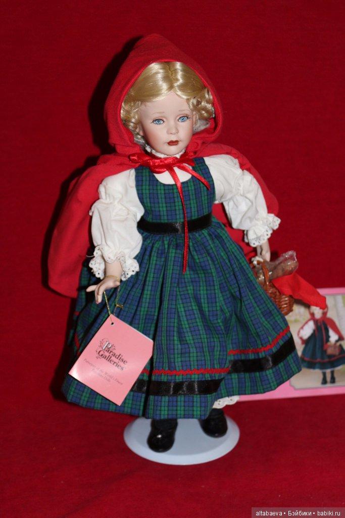 купить фарфоровую куклу красная шапочка готов