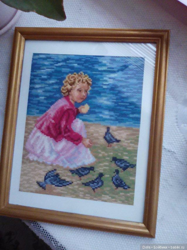 Продаю свою вышивку ручной работы. Картина вышивка крестиком нитками мулине  шерсть. Р.27 22 см. Оформление в рамку из натурального дерева со стеклом. 015d2c3a7d112