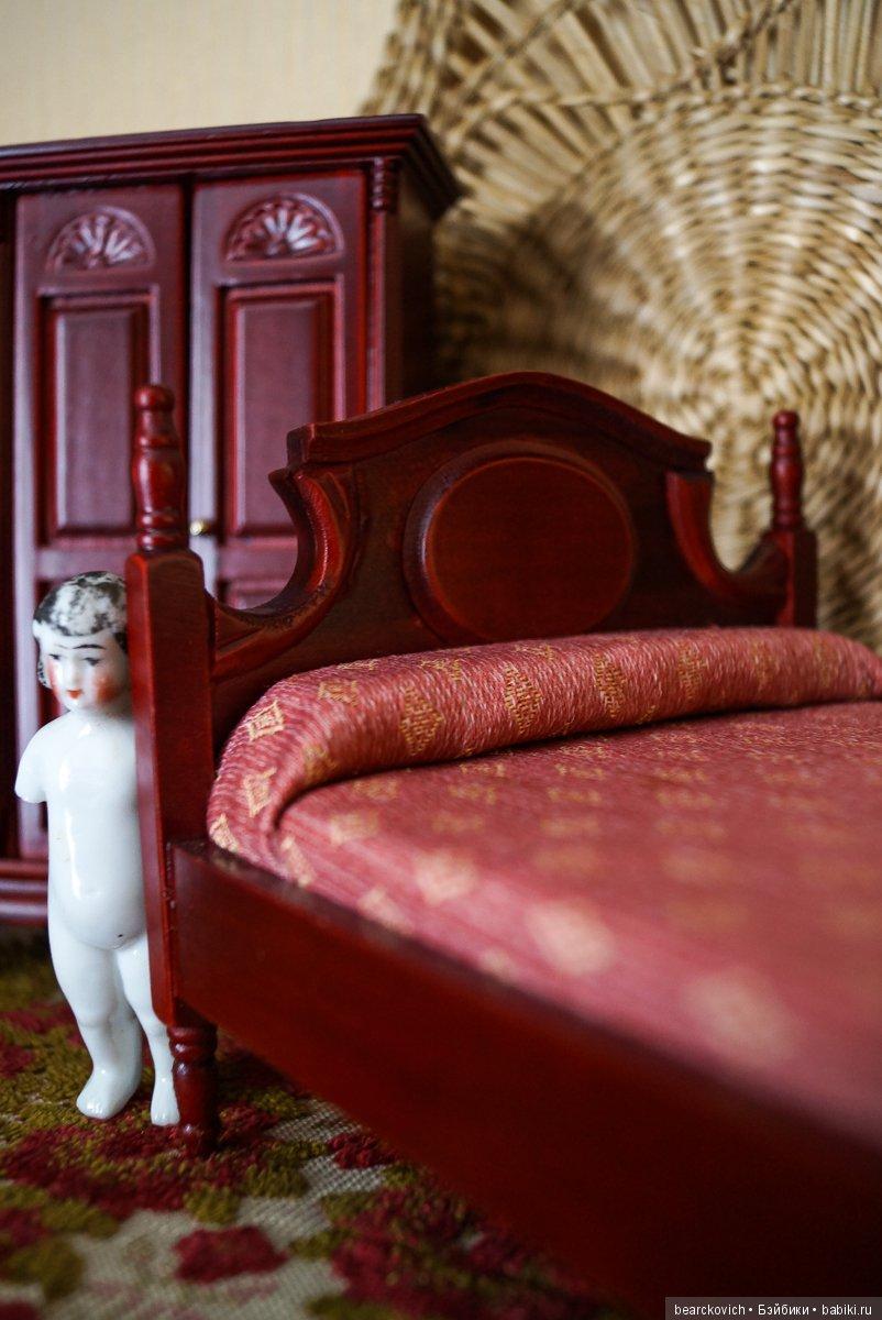 выполнен картинка кровать для кукольного домика здорового