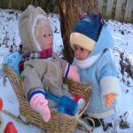 Зимняя прогулка. Мои куклы Baby so Real