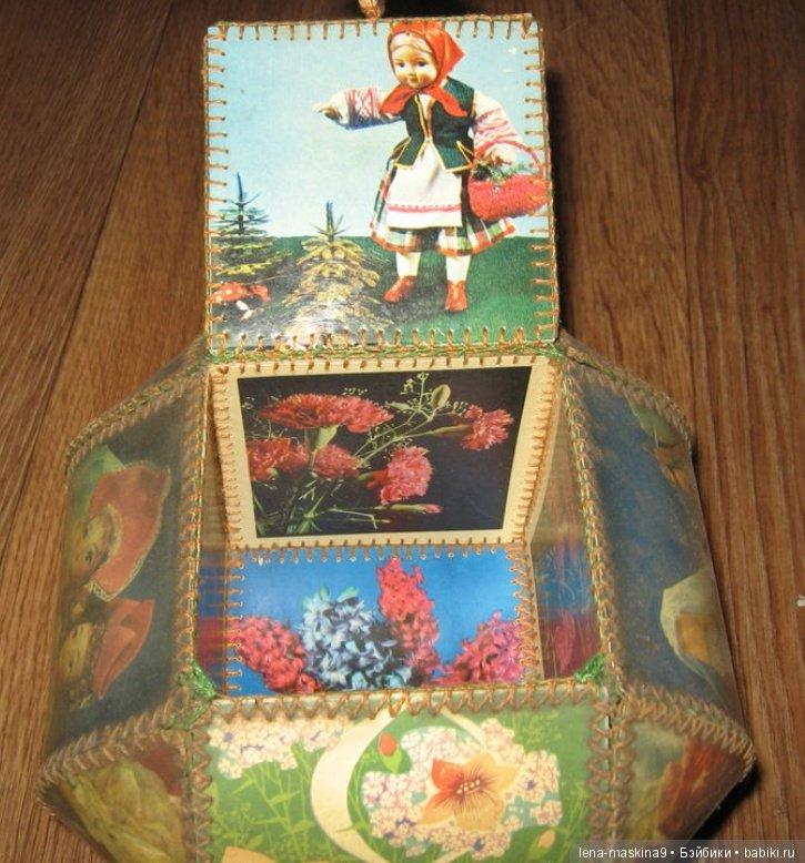 шкатулка из советских открыток