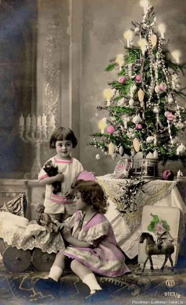 Милашка, старинные фото открытки с рождеством