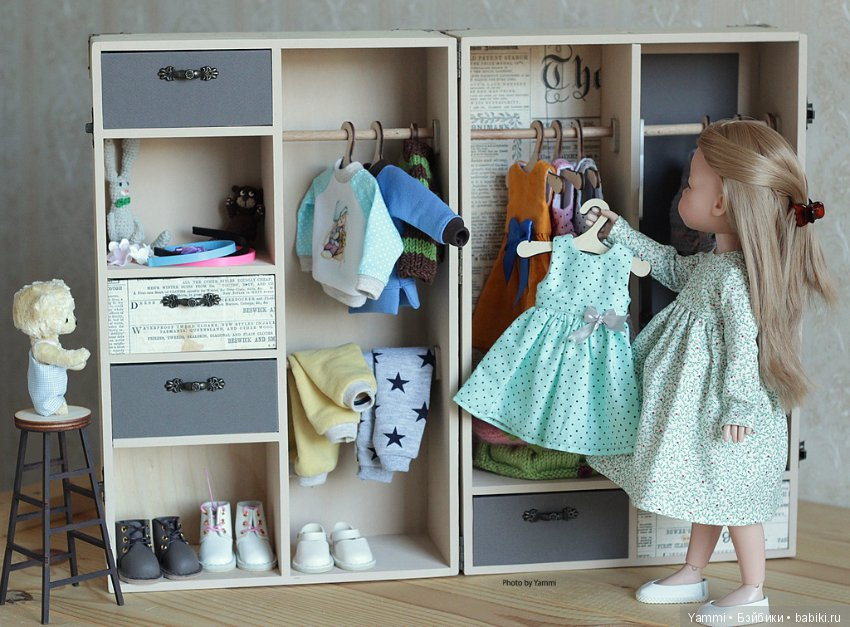 гардероб для куклы картинки этой талантливой южнокорейской